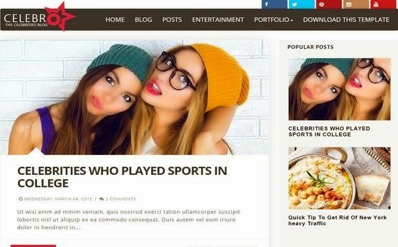 Celebro Blogger Template
