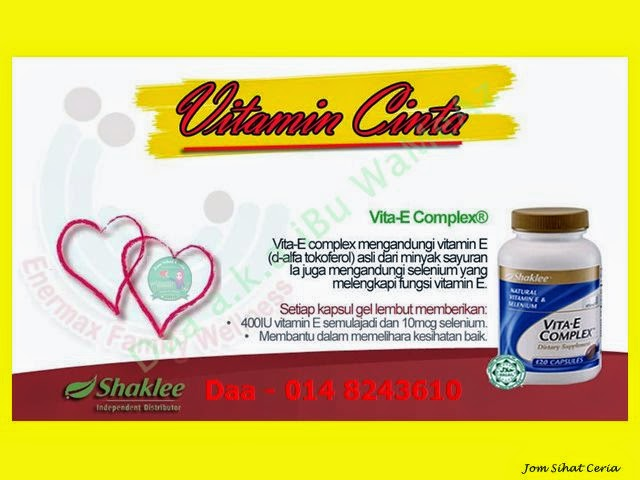 Vita-E, Pengedar Shaklee Kuantan, Produk SHAKLEE, Promosi,