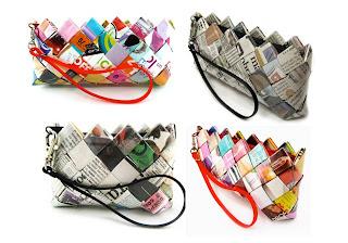 bolsos de papel reciclado