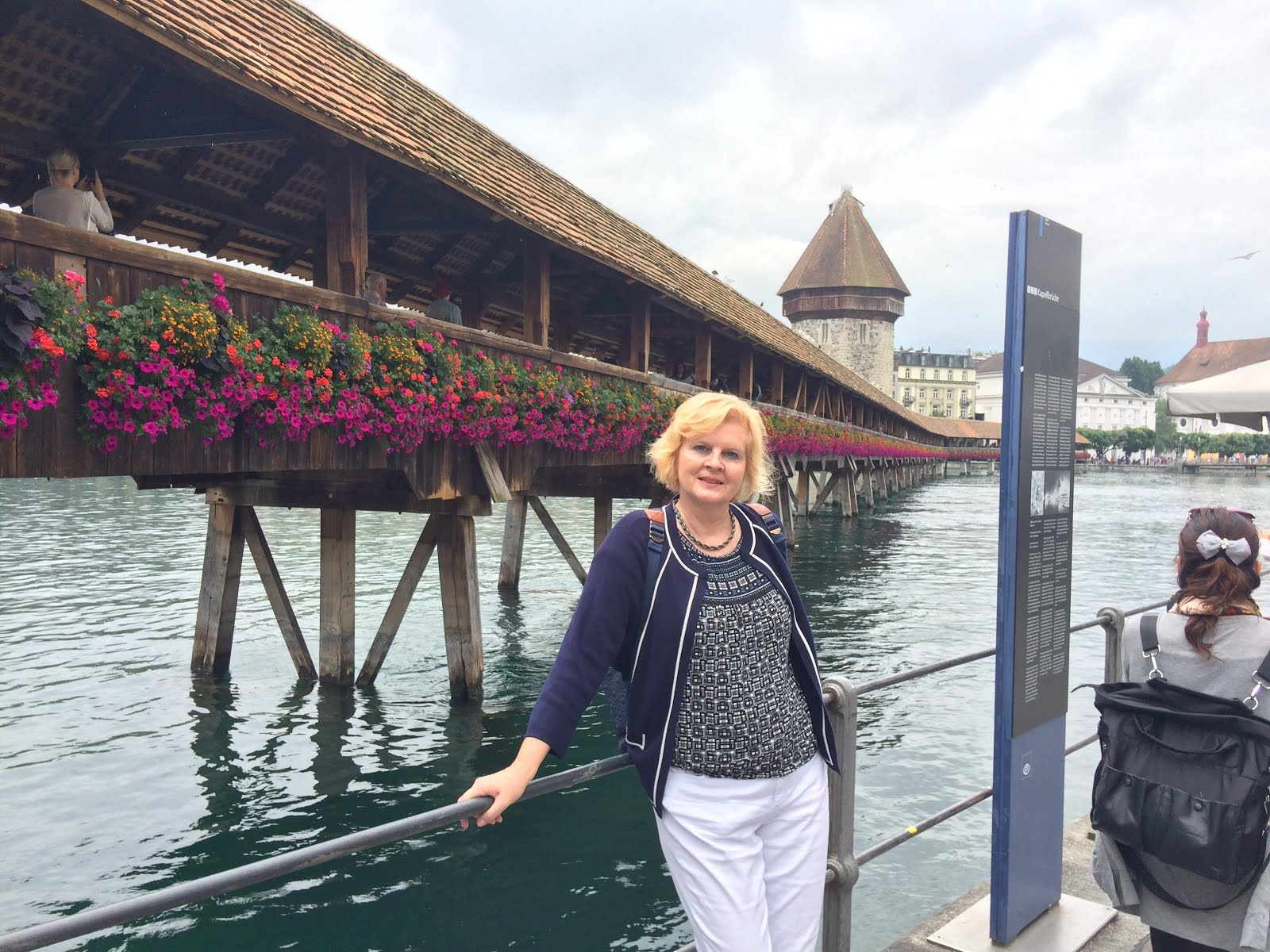 At the Chappel Bridge in Lucerne