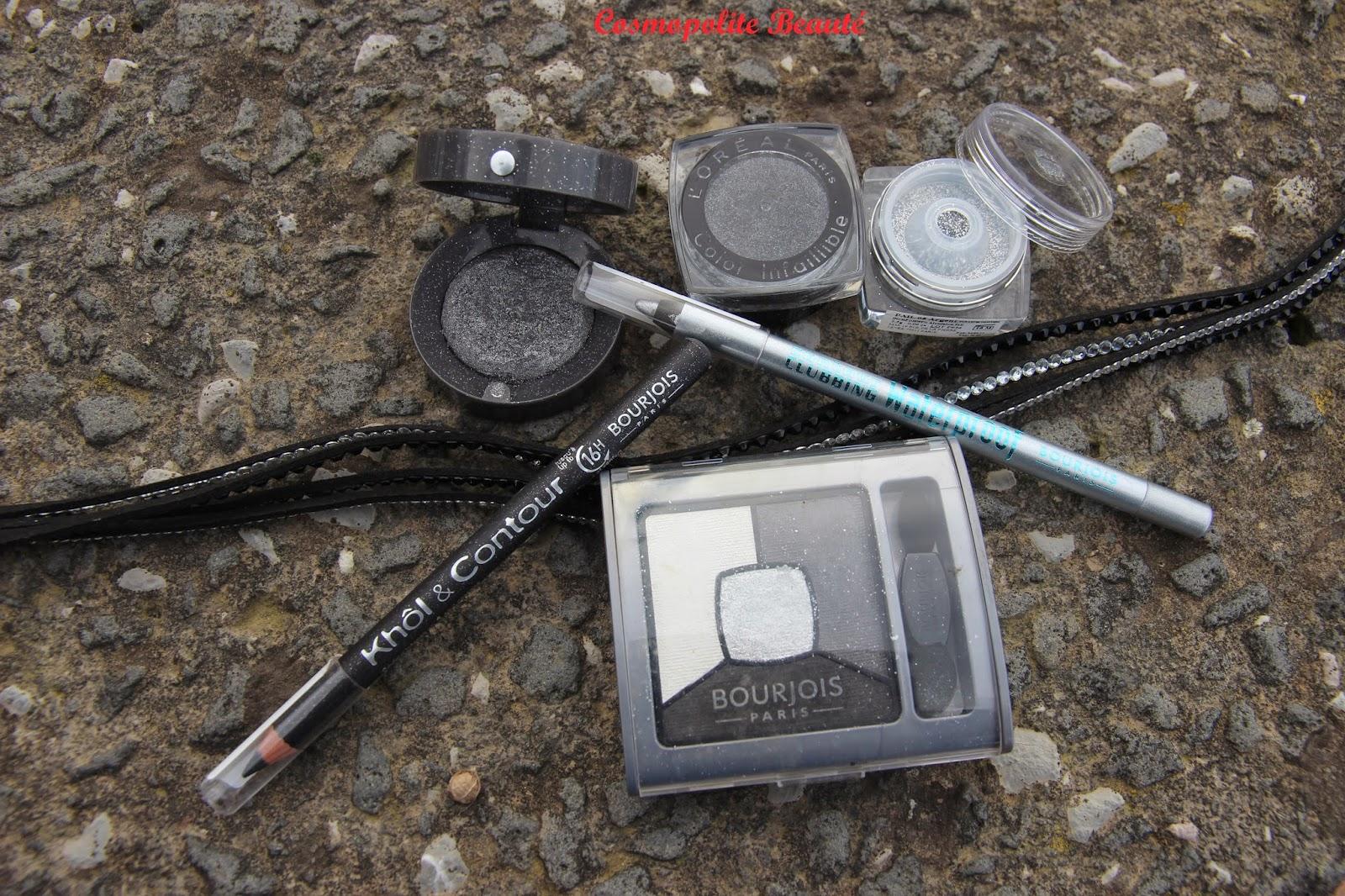 maquillage Bourjois, L'Oréal, ombres à paupières, look de Noel