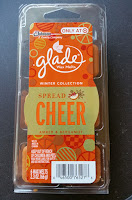 Glade Spread Cheer Amber & Bergamot Winter Collection 2015 Scented Wax Melt