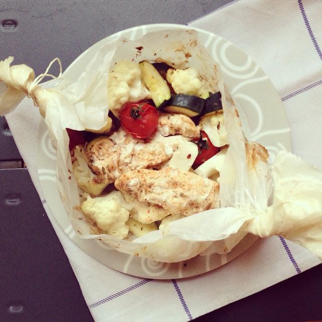 papillote poulet et légumes