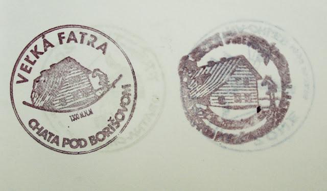 Chata pod Borišovom - pieczątka