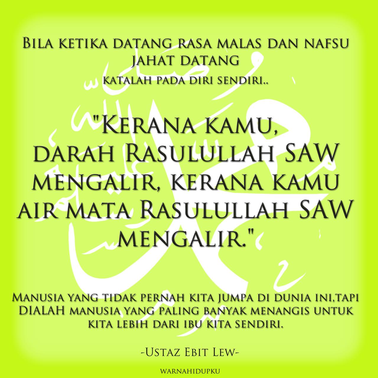 Malunya Kita Dengan Rasulullah... ~ Hidup Biar Best :)