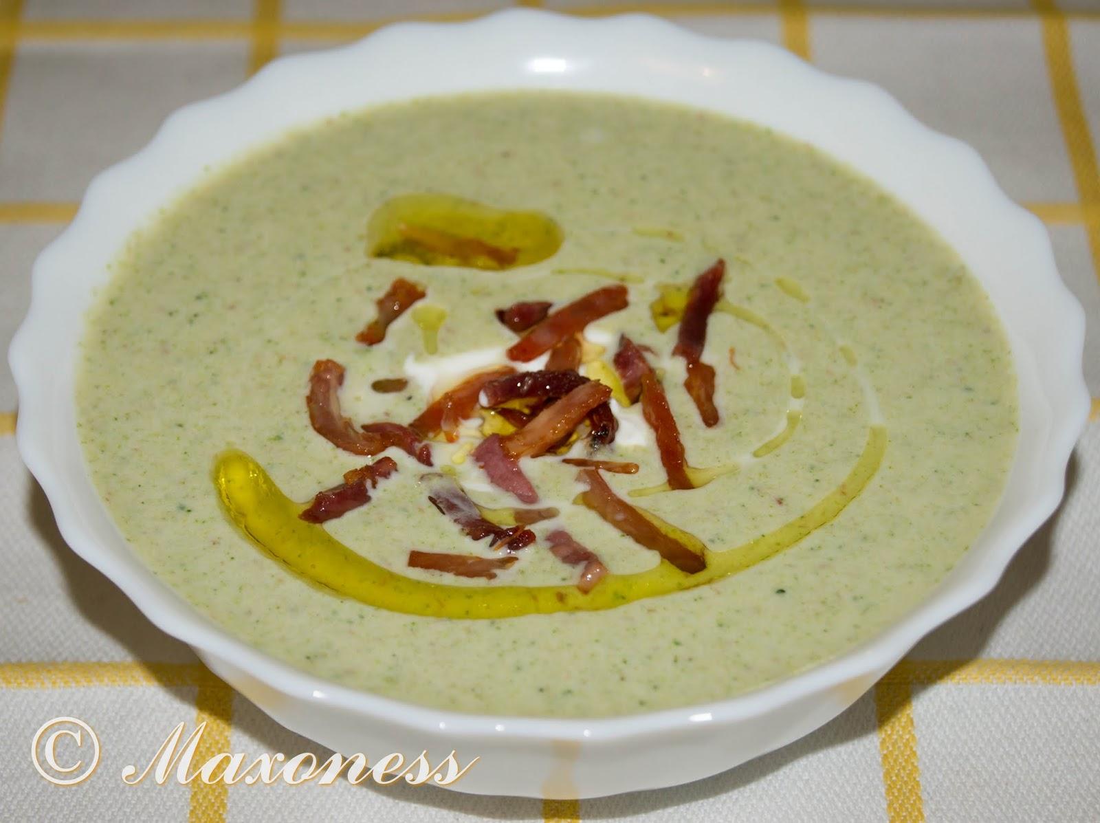 Суп из брокколи с окороком