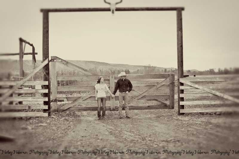 couple holding hands, cowboy engagement session with Levi & Cara by Ellensburg Wedding Photographer Hailey Haberman