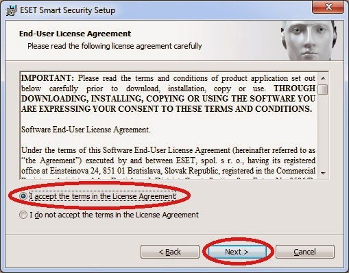 Eset license agreemnt