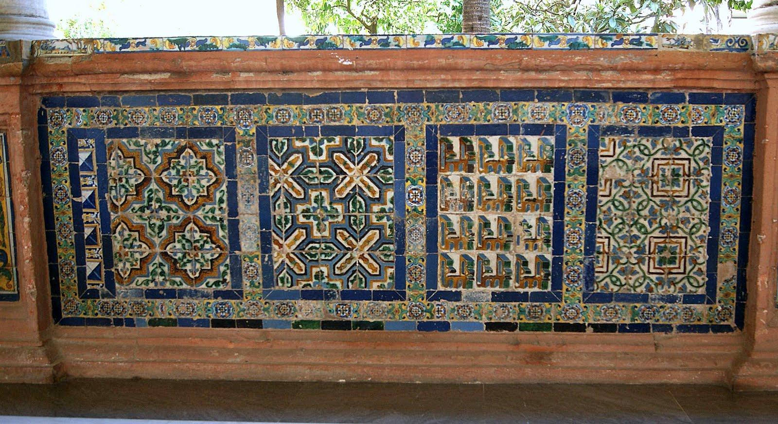 Azulejos patio fotografia azulejos patio superior de la - Azulejos de patio ...