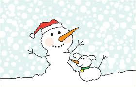 ecard of a snowman