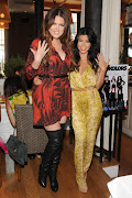 Kourtney and Khloe at the fabulous NYC Kardashian Kolors Collection launch: