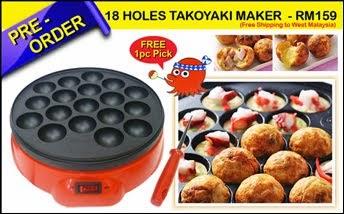 18 HOLES TAKOYAKI MAKER