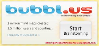 Bubbl.us, sebuah website yang memberikan layanan cepat dan mudah untuk membuat peta konsep (mind map)