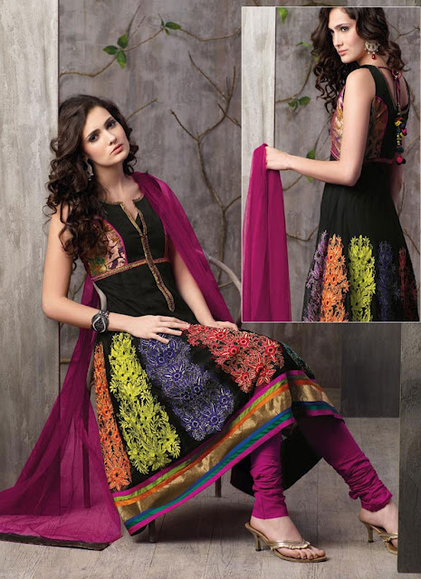 Anarkali-Frock-with-Churi-Pajama