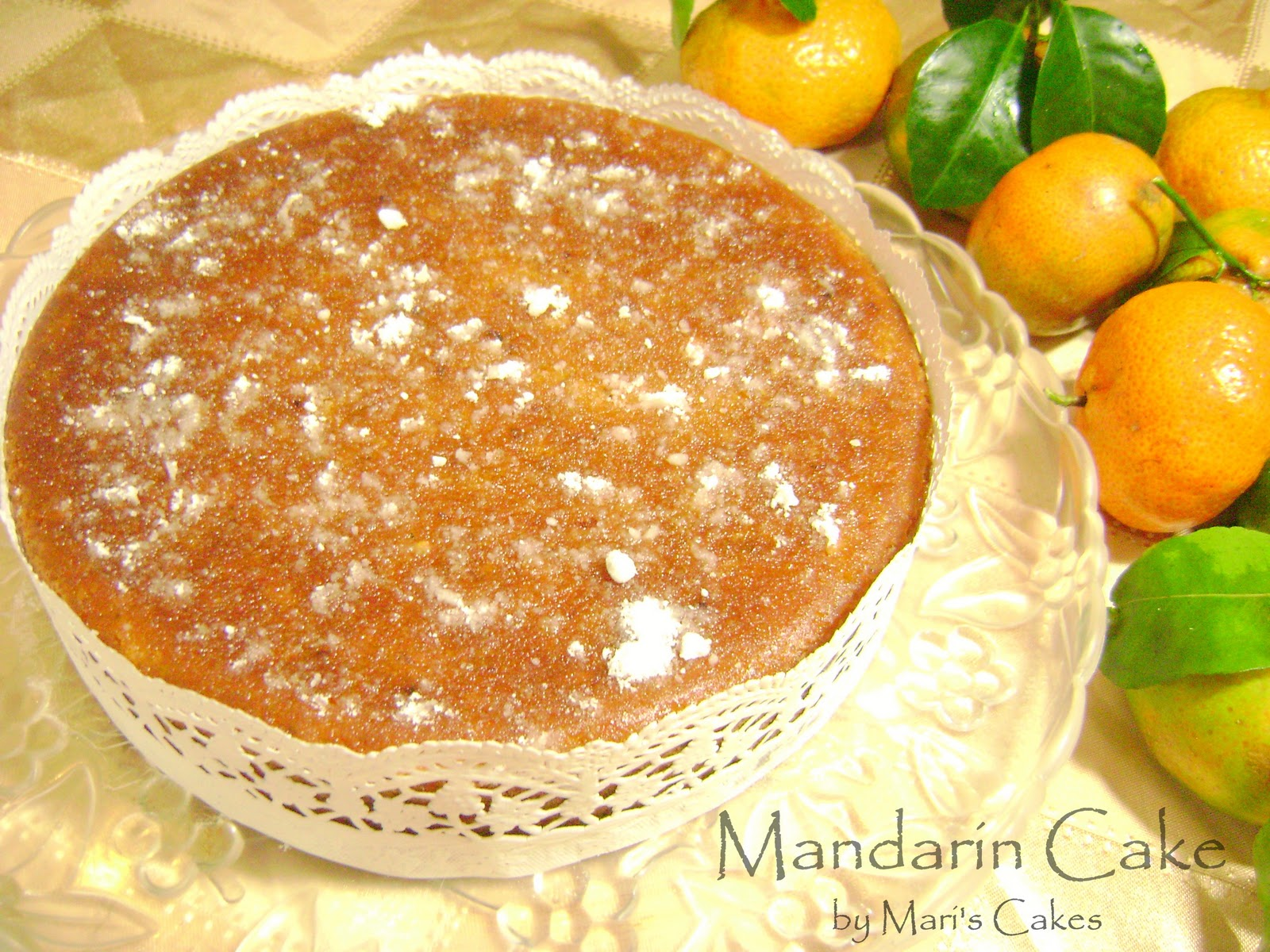 Mandarin Orange Cake, Bizcocho de Mandarina | Mari's Cakes (English)