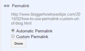 Permalink, custom URL