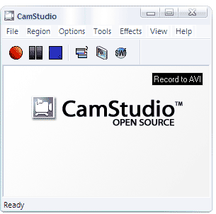 Camstudio is screen recording software as 5th blogging tool