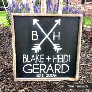 Wedding/Anniversary Arrows Sign