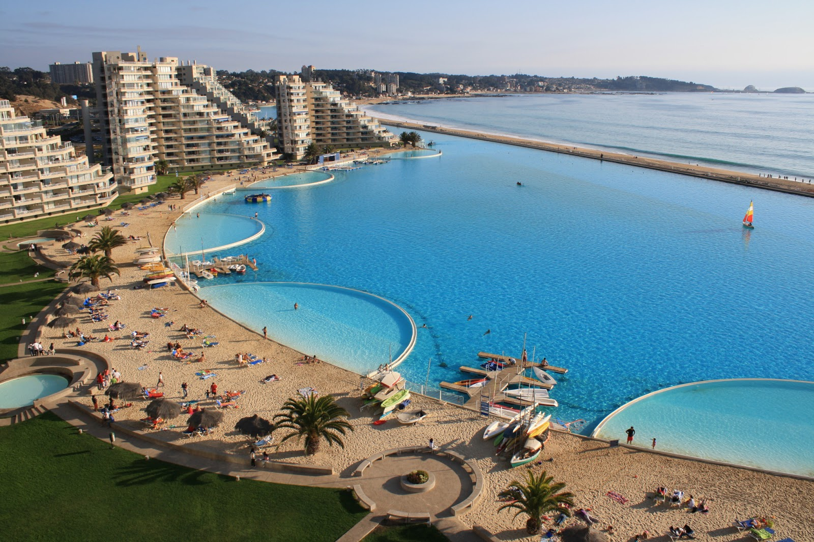 Luxury life design most beautiful pools around the world - The biggest swimming pool in chile ...