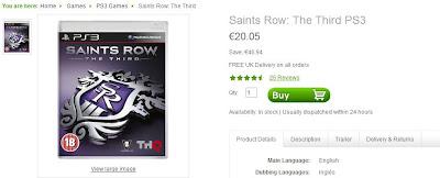 Zavvi: Saints Row: The Third für 20,05 Euro auf PS3 und Xbox 360