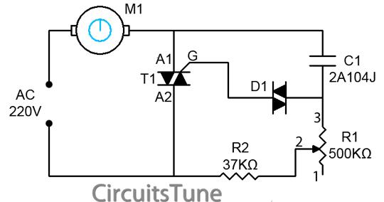 ceiling fan regulator motor speed control circuit diagram