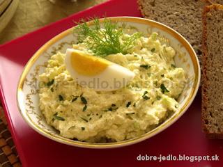 Syrovo-vajíčková nátierka - recepty