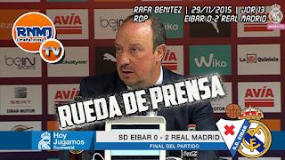 Rafa Benítez en rueda de prensa, Estadio Municipal de Ipurúa