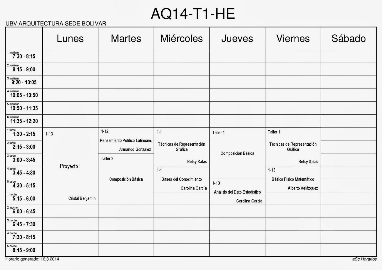 pfg en arquitectura egrkv horarios febrero 2014 On horarios arquitectura