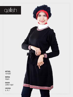 Koleksi Qallish Busana Muslim hitam