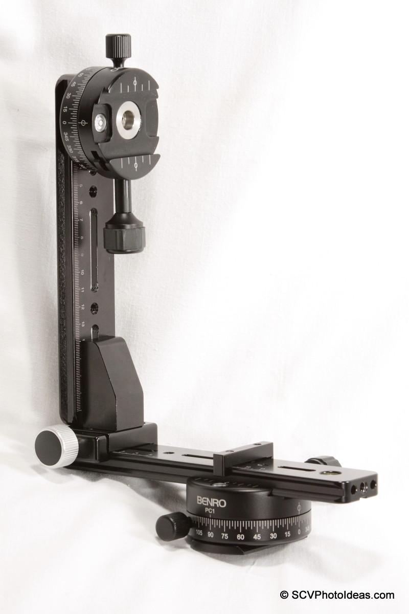 Vertical rail assembly on Hejnar G13-80 rail+PC-1 clamp - full view