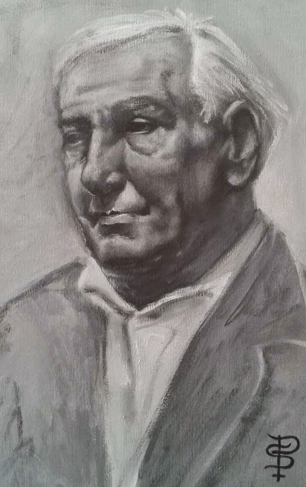 acrilic portrait