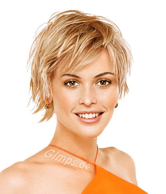 Short hairstyles can look really great on round faced women.