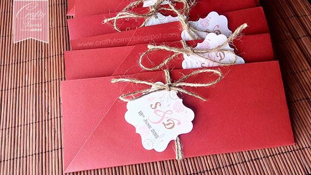 Red Wedding Card Pocket Holder