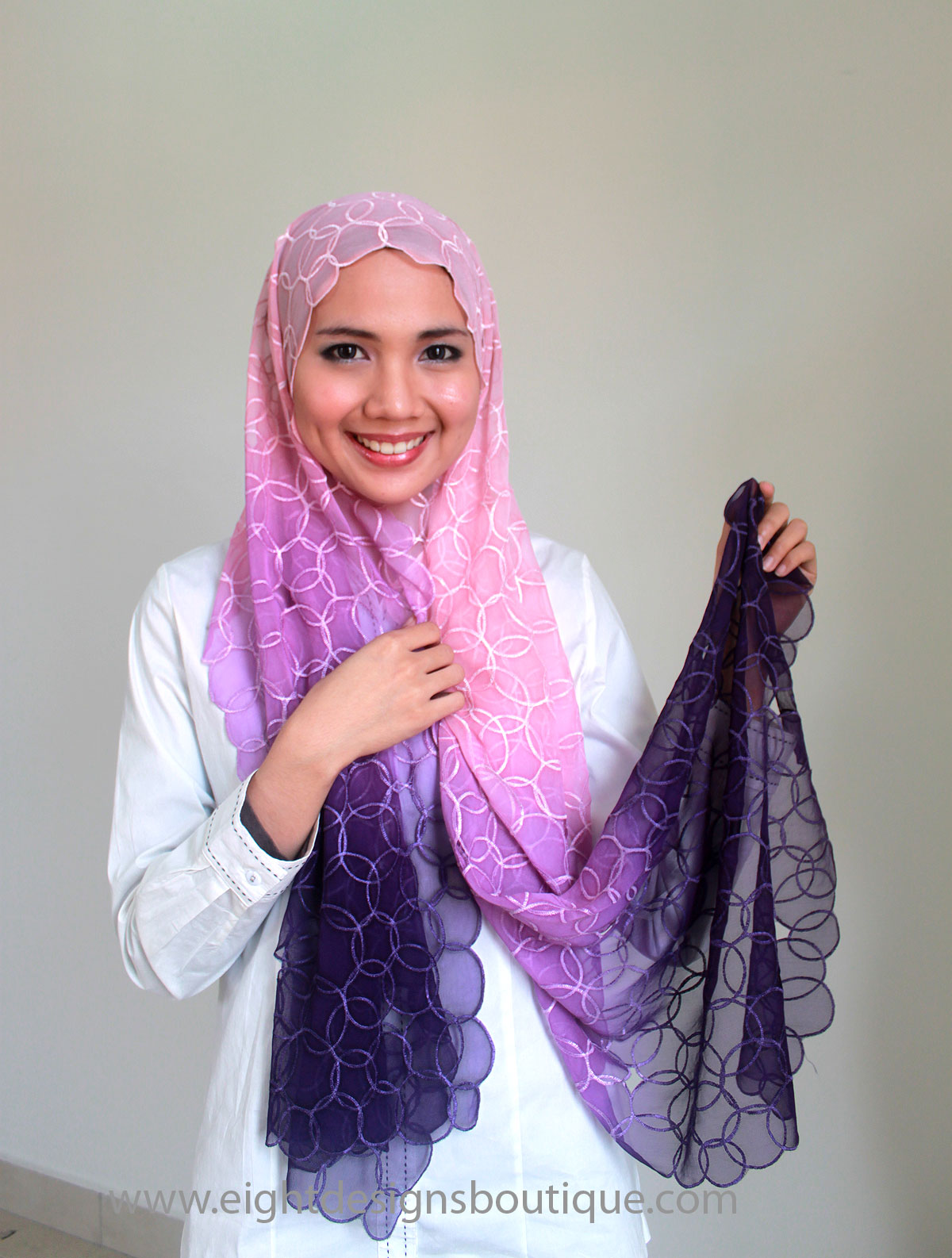 Tutorial - cara pakai shawl - Shawl Eksklusif | EDZ eightDesigns ...