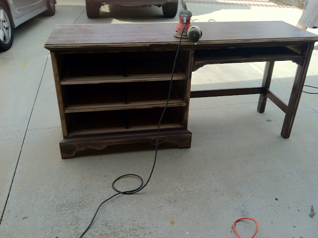 http://www.chasethestar.net, Craigslist, desk, blue, diy, thomasville, furniture