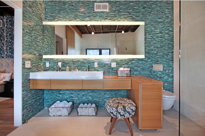 Flavia Sayeg BANHEIRO INTEGRADO AO QUAR -> Quarto Com Banheiro Pequeno Integrado