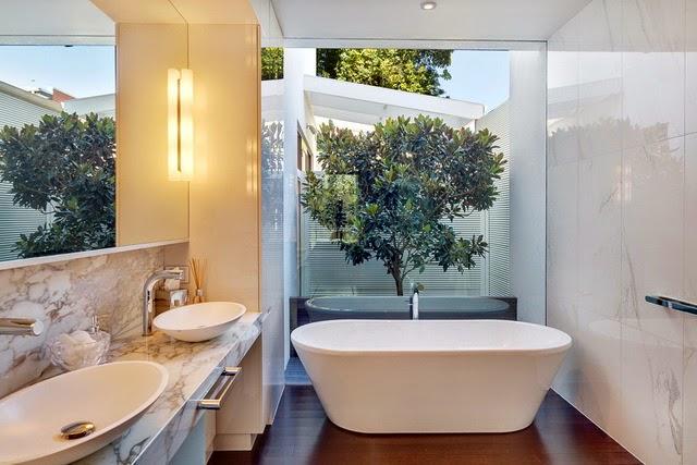 Contemporary Retro Bathroom Design idea
