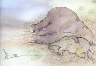elefante dormido