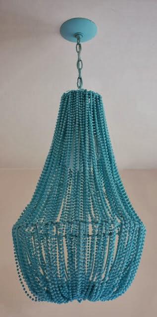 Lámpara de abalorios en Recicla Inventa