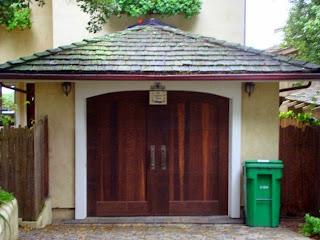 Craftsman style lavender blue garden design for Arts and crafts garage plans