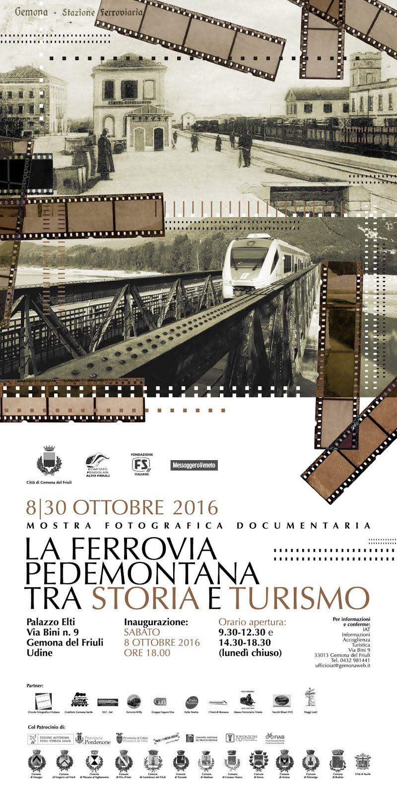 """Mostra """"La Ferrovia pedemontana, tra storia e turismo"""""""