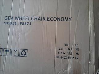 Spesifikasi Kursi Roda GEA Murah FS871