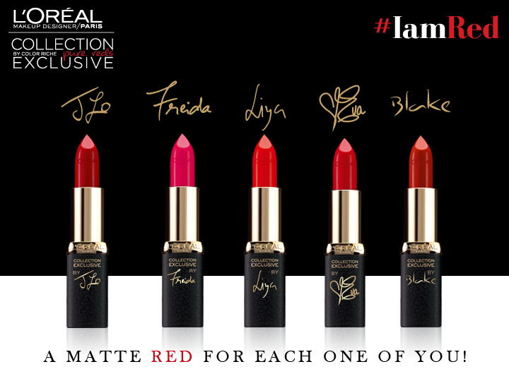 L'Oreal Pure Reds Star Collection, L'Oreal Pure Reds Star Collection, Jlo, Frieda Pinto, Pure reds, Red Lisptick, Matte lipsticks, Matte red, Makeup, Loreal Paris, Beauty blog, Lisptick swatches, red lips, Sexy Lips, Star Collection, red alice rao, redalicerao