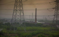 A coal-fired power station in rural Zhejiang Province, China. [Credit: Steven J. Davis (2015)] Click to Enlarge.