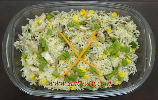 Sweet Corn Mushroom Fried Rice