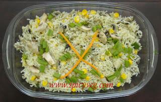 Sweet Corn Mushroom Fried Rice