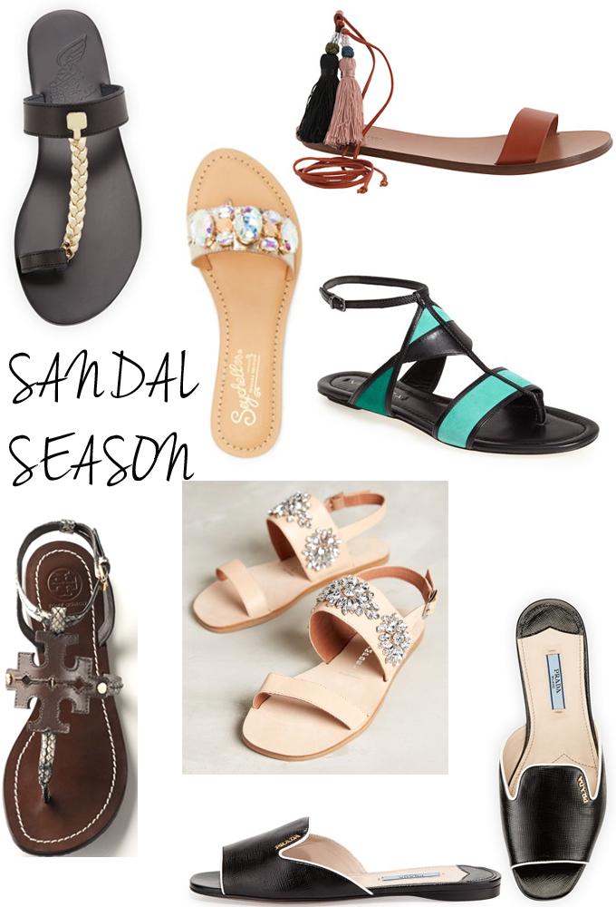 Sandals-Summer-Tassels-Rhinestones