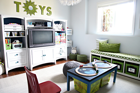 Creating a meaningful home i heart organizing jenna burger for Home office playroom design ideas