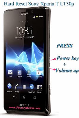 Hard Reset Sony Xperia T LT30p