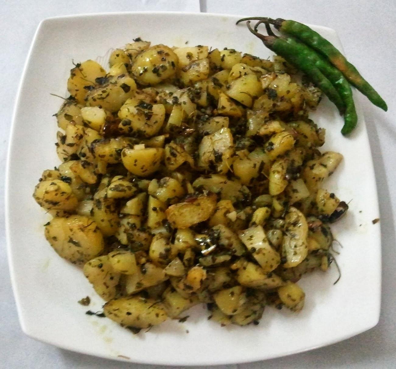 ... kitchen: Aloo Kasuri Methi (Boiled Potato with Fenugreek Leaves